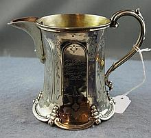 Sterling silver christening mug/jug hallmarked