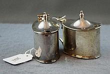 Pair of Sterling silver mustard pots hallmarked