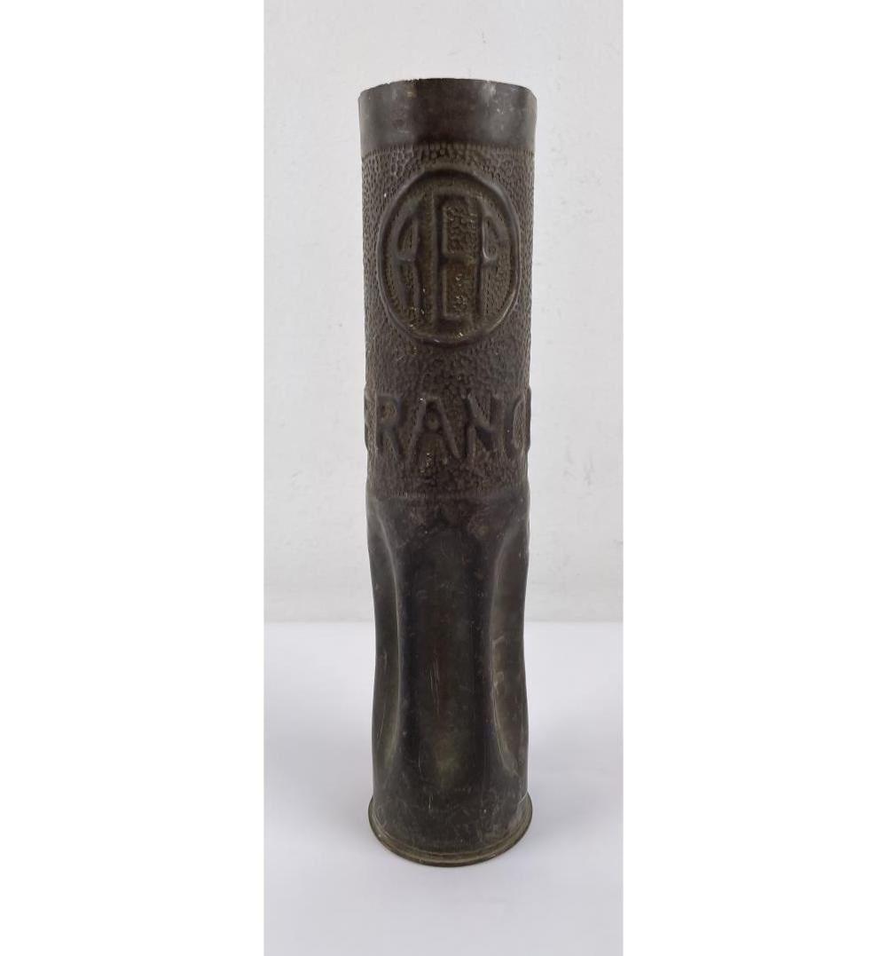 WW1 FRANCE AEF TRENCH ART SHELL