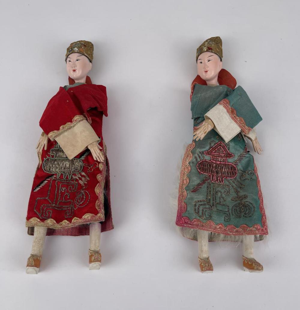 PAIR OF ANTIQUE CHINESE DOLLS