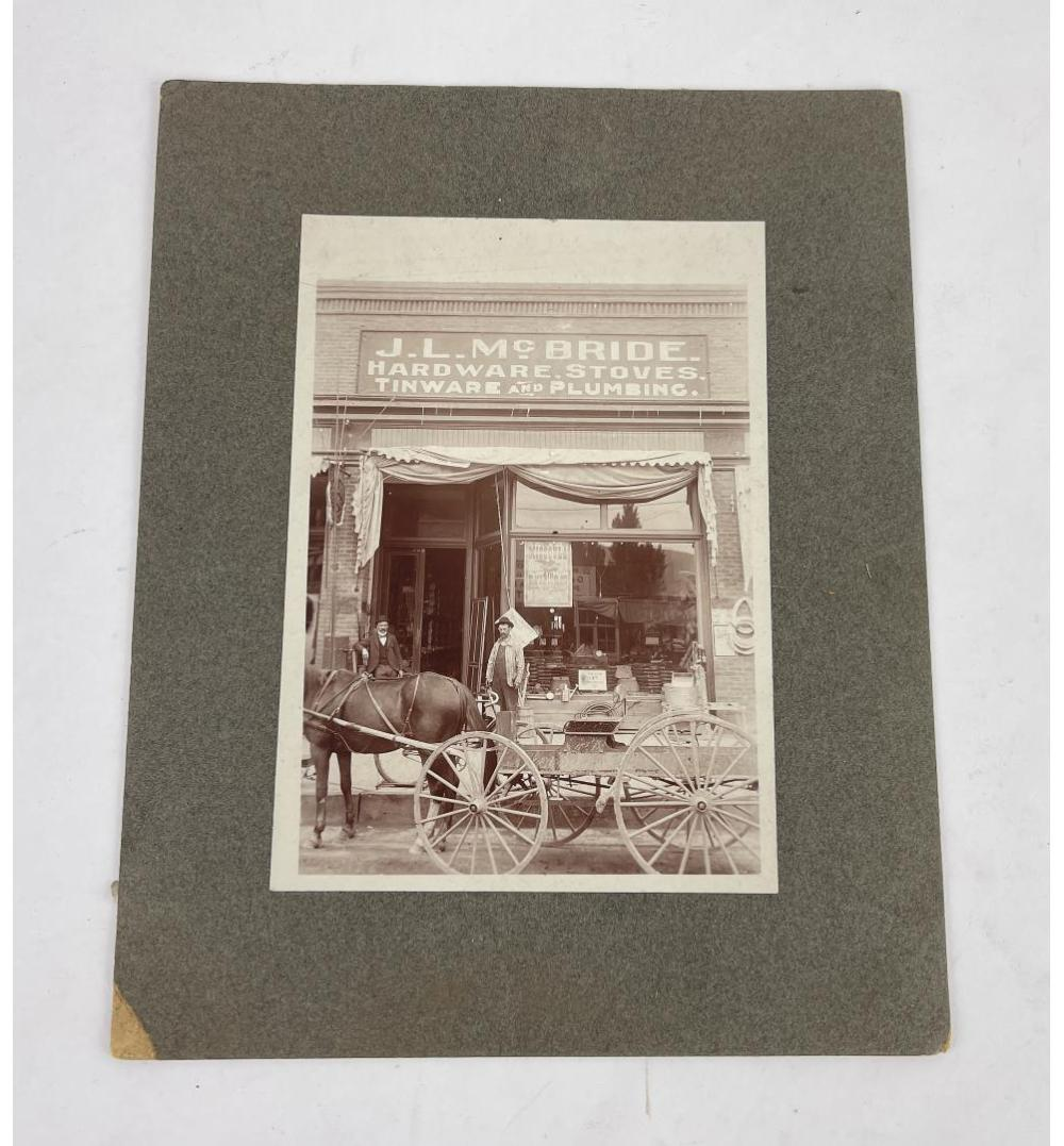 MISSOULA MONTANA MCBRIDE HARDWARE CABINET CARD