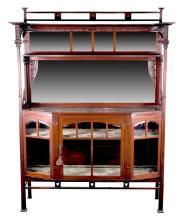 Edwardian Art Nouveau mahogany side cabinet