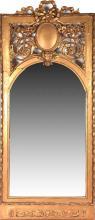 A 19th century gilt gesso pier mirror