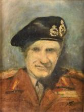 Military interest. A portrait of General Sir Bernard Law Montgomery (1887 - 1976)