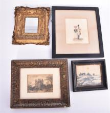 A small collection of assorted 19th century pictures