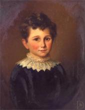 Framed 19th century English school portrait of a young boy