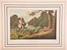 A print of two gentleman pike fishing