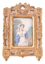 An early 20th century painted portrait miniature