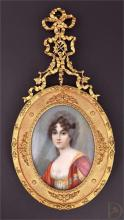 An 18th century portrait miniature of an unknownlady
