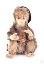 An early 20th century toy monkey, possibly Steiff