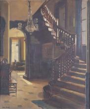 frederick william elwell ra british the staircase oil on board