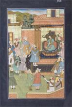 Four Indian crowd scenes