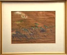 A 19th century Japanese watercolour on silk