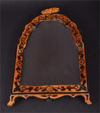 A late 18th / early 19th century satinwood dressing table easel mirror