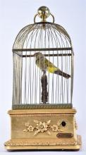 A 19th century French automaton clockwork bird musical box