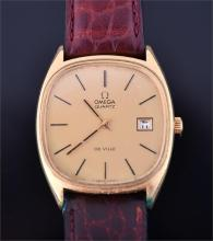 An Omega de Ville gentleman's gold plated wrist watch