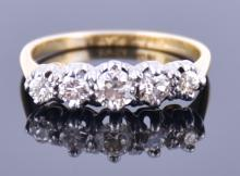 An 18ct yellow gold and diamond ring