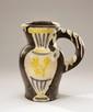 Pablo PICASSO (1880-1973) Pichet au vase, 1954 Céramique d'après un modèle de Picasso édité par Madoura, d'un tirage à 500 exemplaires numérotés Cachets en creux Edition Picasso et Madoura plein feu, numérotée 18/500 sous la base H. 31 cm Provenance