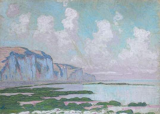 Jean-Francis AUBURTIN 1866-1930 - Les falaises à