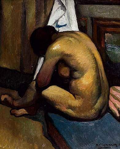 Paul-Elie GERNEZ 1888-1948 - Nu à sa toilette
