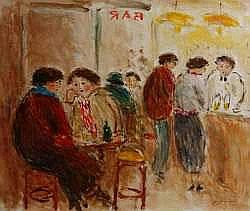 Jean-Jacques RENE né en 1943 - Au café