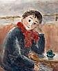 Jean-Jacques RENE né en 1943 - Femme au café, Jean Jacques René, Click for value