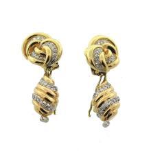 Van Cleef and Arpels Gold Diamond Earrings