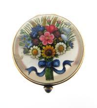 Victorian Crystal Pill Box