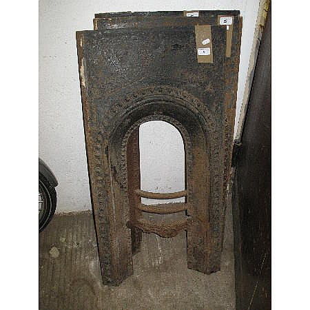 Three cast iron fire surrounds (3)