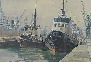 "Colin Verity (1924 - 2011), ""Dockland K G V Dock"