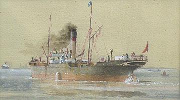 """Colin Verity (1924 - 2011), """"SS Selby - Outward"""