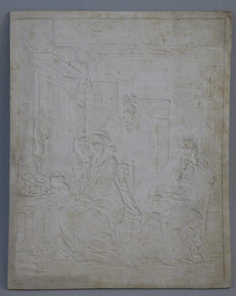 A 19th Century German lithophane panel