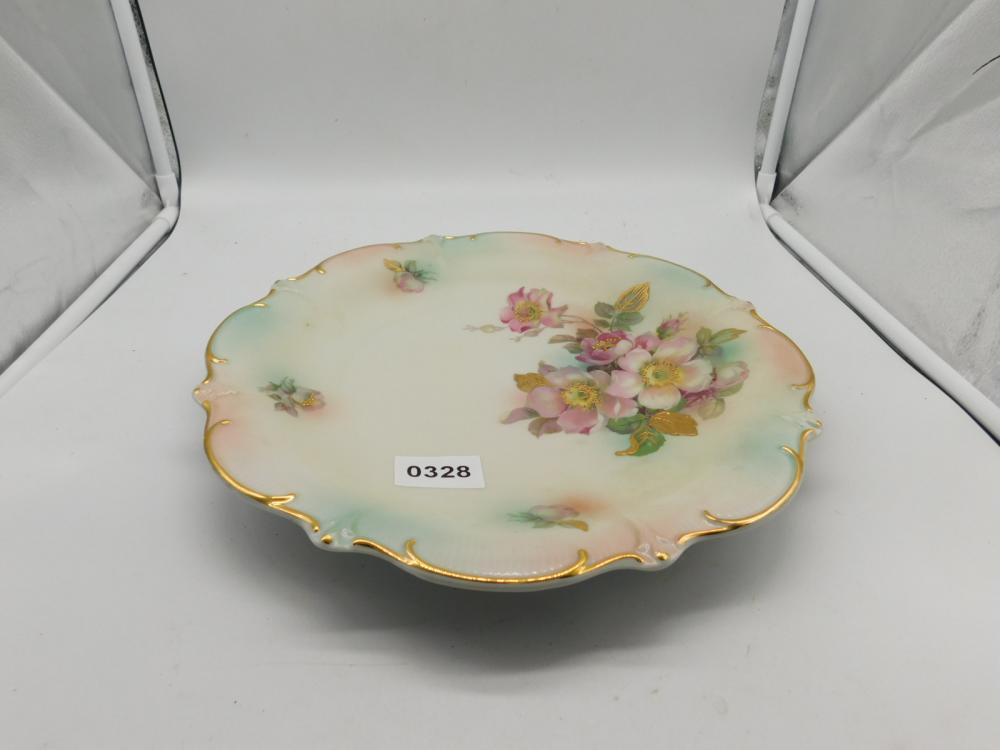 HAND PAINTED CHARGER W/GOLD TRIM MADE IN SCHUMANN GERMANY