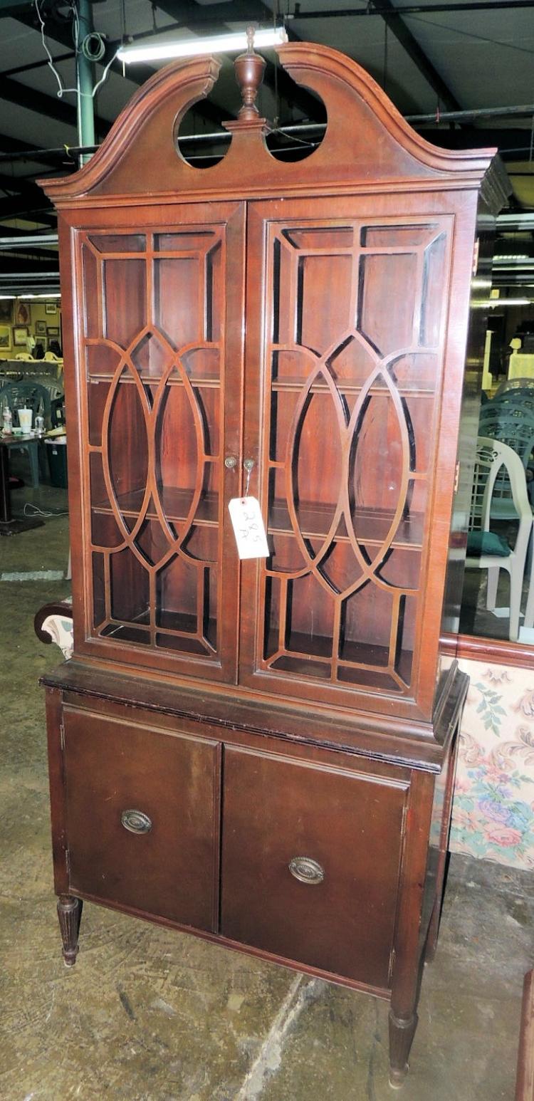 Cabinet D Architecte Nice nice mahogany china cabinet 2 doors