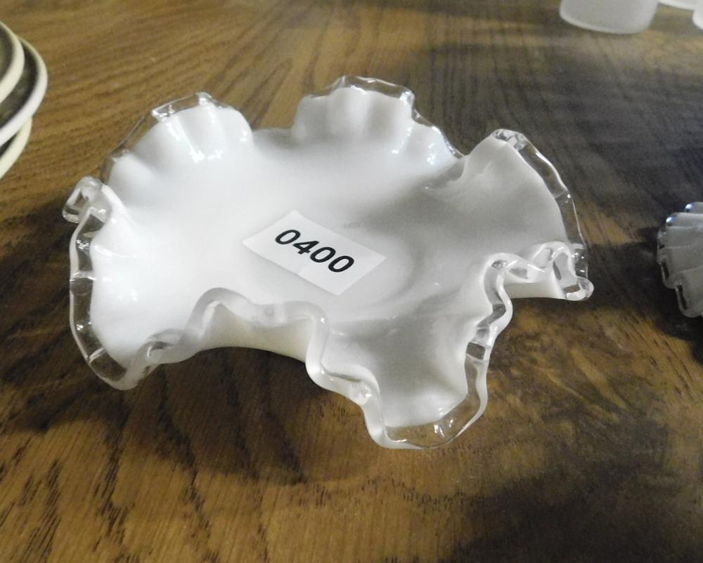 Glass Fenton Vintage Fenton Art Glass Silvercrest Footed Bowl With Ruffled Edges
