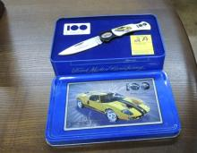 ford 2003 gt collector knife in tin
