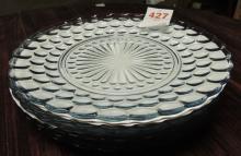 Blue Bubble Dinner Plates, set of 6