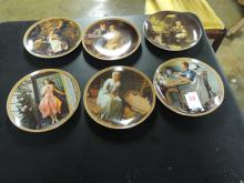 6 NORMAN ROCKWELL COLLECTOR PLATE