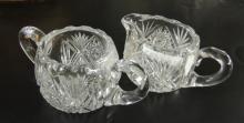 CUT GLASS SUGAR & CREAMER