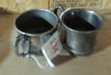 2 SILVERPLATED CUPS