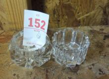 2 CUT GLASS SALT DIPS