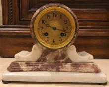 Alabaster and Marble Antique Clock
