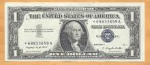 1957 $1 Blue Seal Silver Certificate ***Star***