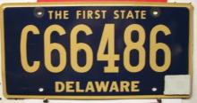 Delaware Commercial License Plate