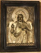 Jesus Illustration on Metal
