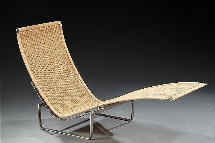 Poul Kjaerholm (1929-1980)?& Fritz Hansen Editeur  Chaise longue modèle PK