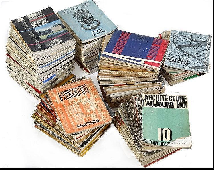 Documentation L'Architecture d'aujourd'hui  Ensemble de 129 numéros de 19