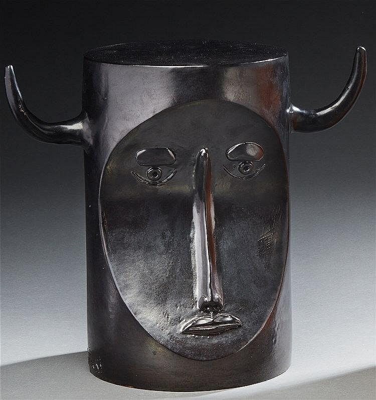 Robert Cloutier (1930-2008) ?& Jean Cloutier (né en 1930)  Sculpture tête