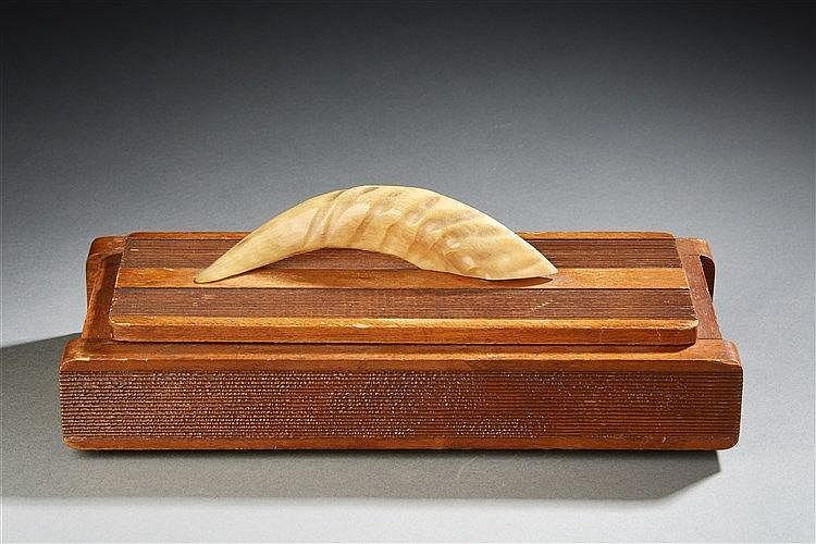 Jacques Adnet ?(1900-1984) & Cie Des Arts Français Boite rectangulaire en