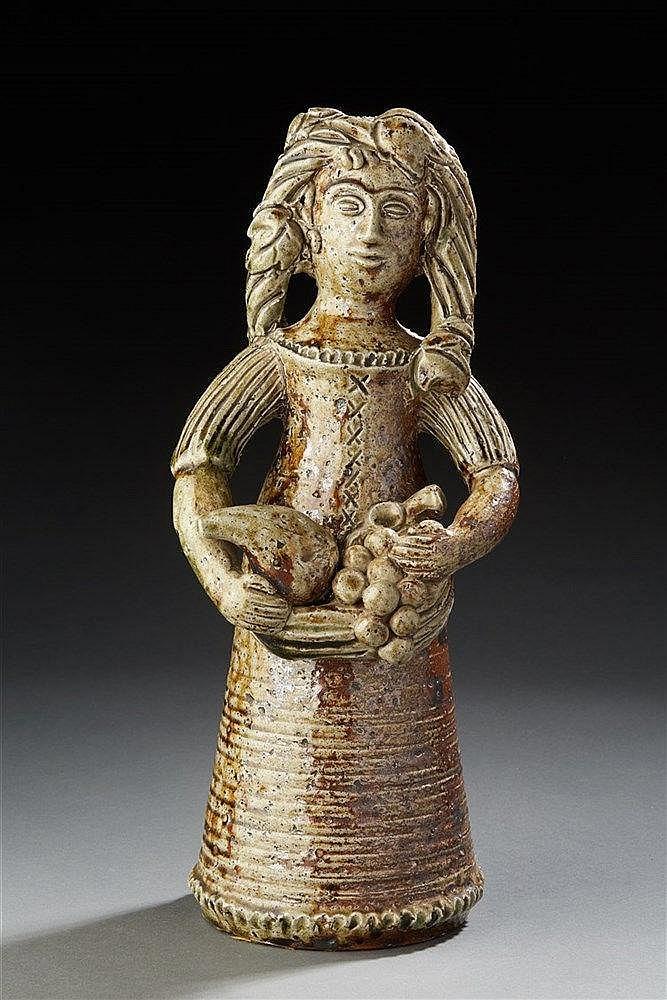 Jacqueline Lerat (1920-2009) ?& Jean Lerat (1913-1992) Sculpture en grès